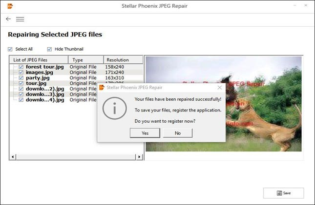 Steps To Resolve JPEG Error - No Preview Available