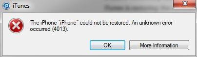 Solved: iTunes Error 4013/4014 When Restoring iPhone/iPad