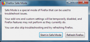 Firefox Start in Safe mode
