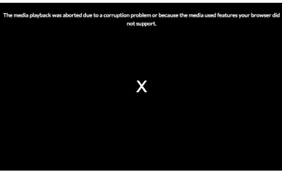 Fixed: Error 'The video playback was aborted due to a corruption problem'