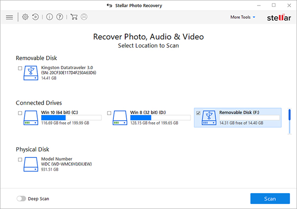 Recover Deleted Photos from Digital Camera